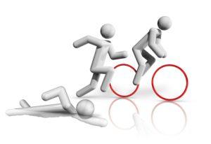 three dimensional triathlon symbol, olympic sports series